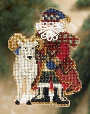 """Набор для вышивания """"Teton Santa • Тетонский Санта"""" Mill Hill"""