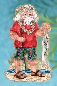 """Набор для вышивания """"Tahiti Santa • Таитянский Санта"""" Mill Hill"""
