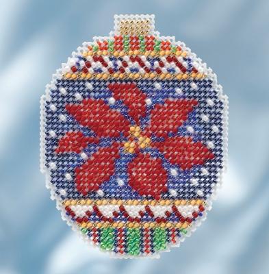 """Набор для вышивания """"Christmas Poinsettia • Рождественская пуансеттия"""" Mill Hill"""
