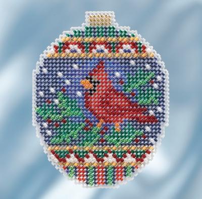 """Набор для вышивания """"Crimson Cardinal • Малиновый кардинал"""" Mill Hill"""