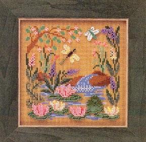 """Набор для вышивания """"Frog Pond • Лягушачий пруд"""" Mill Hill"""