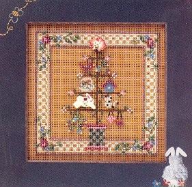 """Набор для вышивания """"Spring Feather Tree • Весеннее дерево"""" Mill Hill"""