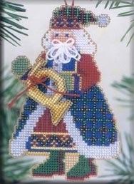 """Набор для вышивания """"French Horn Santa • Санта"""" Mill Hill"""
