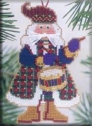 "Набор для вышивания ""Drum Santa • Санта"" Mill Hill"