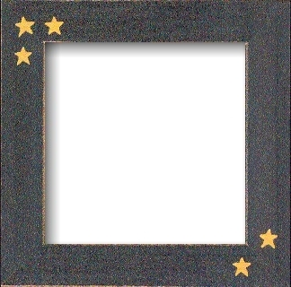 Оригинальная рамка Matte Black w/Primitive Stars для наборов Mill Hill