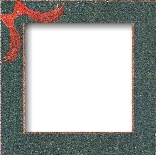 Оригинальная рамка Matte Green w/Red Bow для наборов Mill Hill