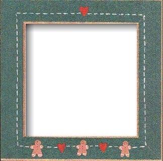 Оригинальная рамка Matte Green w/Gingerbread Hearts для наборов Mill Hill