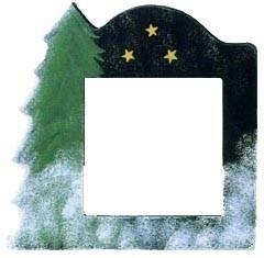 Оригинальная рамка  Matte Black with Tree для наборов Mill Hill