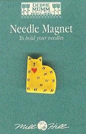 """Магнитный держатель для игл """"Gold Quilt Cat • Золотистый Кот"""" Mill Hill"""