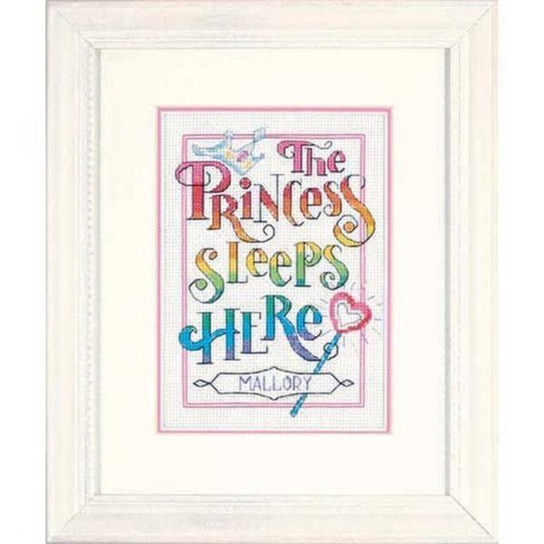 """06941 Набор для вышивания крестом """"The Princess • Принцесса"""" DIMENSIONS"""