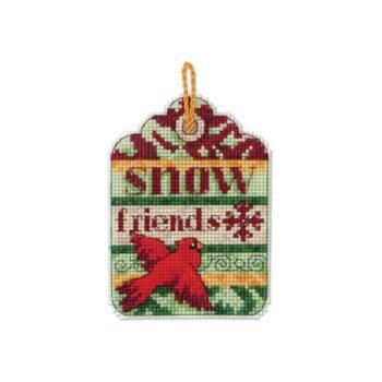 """70-08890 Набор для вышивания крестом """"Snow Friends Ornament • Снежные друзья"""" DIMENSIONS"""