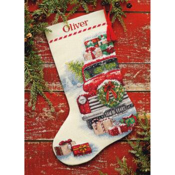 """70-08986 Набор для вышивания крестом """"Santa's Truck • Грузовик Санты"""" DIMENSIONS"""