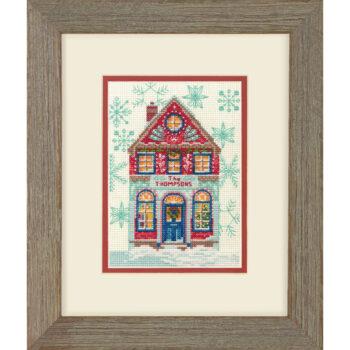 """70-08988 Набор для вышивания крестом """"Hiliday Home • Праздничный дом"""" DIMENSIONS"""