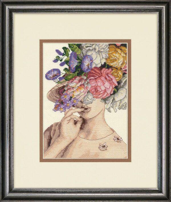 """70-65209 Набор для вышивания крестом """"Garden Lady • Садовая леди"""" DIMENSIONS"""
