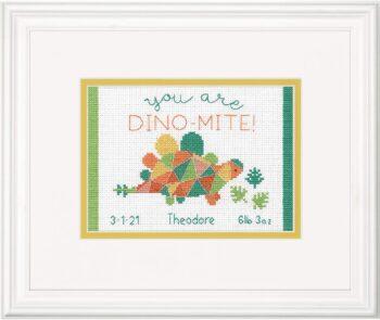 """70-65210 Набор для вышивания крестом """"Dino • Динозаврик"""" DIMENSIONS"""