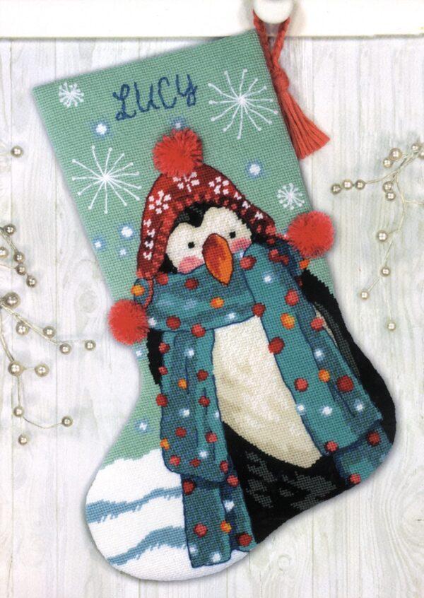 "71-09160 Набор для вышивания гобеленом ""Fuzzy Penguin • Пінгвін"" DIMENSIONS"