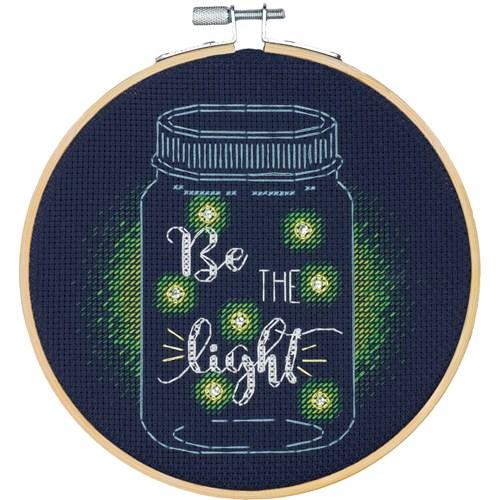 """72-75982 Набор для вышивания крестом """"Be the Light • Будь светом"""" DIMENSIONS"""