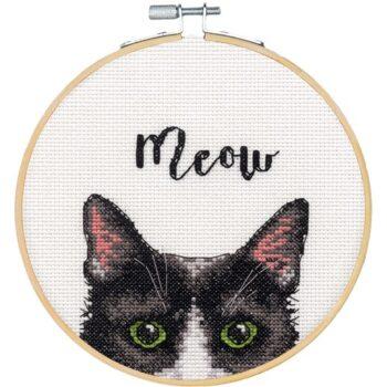 """72-75983 Набор для вышивания крестом """"Meow • Мяу"""" DIMENSIONS"""