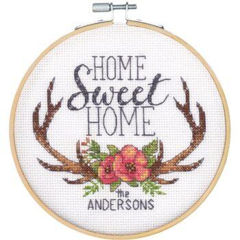 """72-75984 Набор для вышивания крестом """"Home Sweet Home • Дом милый дом"""" DIMENSIONS"""
