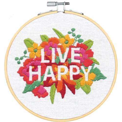 72-76107 Набор для вышивания «Живи счастливо» DIMENSIONS