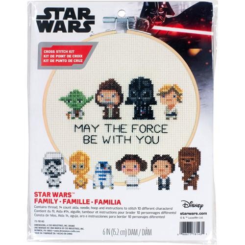 """72-76143 Набор для вышивания крестом """"Star Wars Family • Семья Звездные войны"""" DIMENSIONS"""