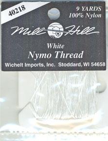 Nymo нитка Белая (8м) 100% Nylon Mill Hill 40218