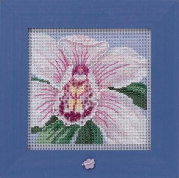 """Набор для вышивания """"White Orchid • Белая орхидея"""" Mill Hill MH142014"""