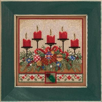 "Набор для вышивания ""Holiday Glow • Праздничное сияние"" Mill Hill MH142032"