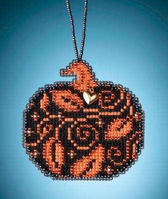 """Набор для вышивания """"Glowing Pumpkin • Сияющая тыква"""" Mill Hill MH162023"""