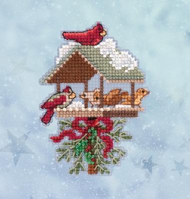 "Набор для вышивания ""Winter Feast • Зимняя кормушка"" Mill Hill MH182032"