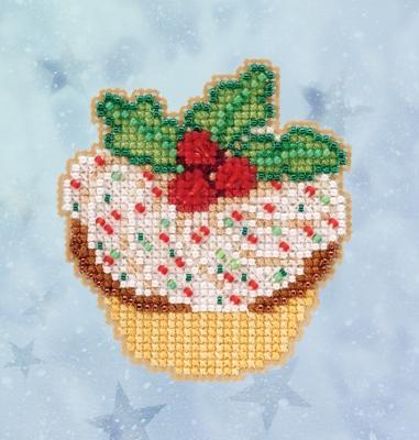 """Набор для вышивания """"Holly Cupcake • Кекс"""" Mill Hill MH182033"""