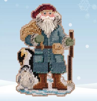 """Набор для вышивания """"Penguin Santa • Санта с пингвином"""" Mill Hill MH202031"""