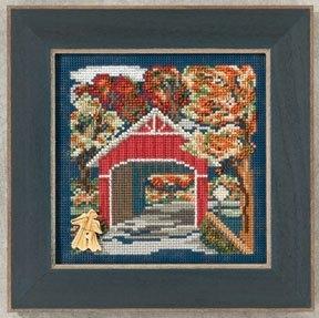 """Набор для вышивания """"Covered Bridge • Крытый мост"""" Mill Hill MH142201"""