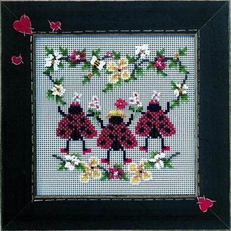 """Набор для вышивания """"Ladybug Dance • Танец Божьей коровки"""" Mill Hill MHCB214"""