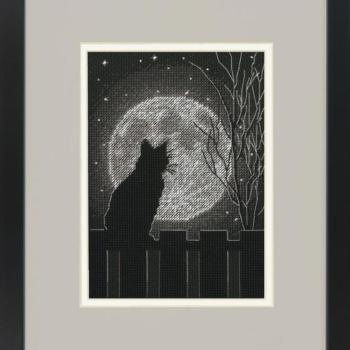 """70-65212 Набор для вышивания крестом """"Black Moon Cat • Черная лунная кошка"""" DIMENSIONS"""