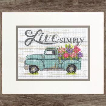 """70-65211 Набор для вышивания крестом """"Flower Truck • Цветочный грузовик"""" DIMENSIONS"""