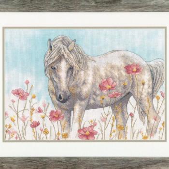 """70-35396 Набор для вышивания крестом """"Wild Horse • Дикая лошадь"""" DIMENSIONS"""