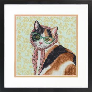 """70-35395 Набор для вышивания крестом """"Mama Cat • Мама кошка"""" DIMENSIONS"""