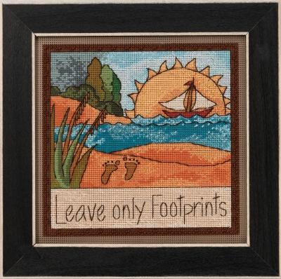 """ST152012 Набор для вышивания """"Leave Only Footprints • Оставьте только следы"""" Mill Hill"""
