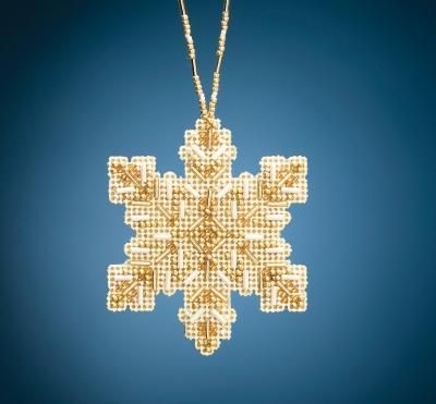 "MH212012 Набор для вышивания ""Golden Snowflake • Золотая снежинка"" Mill Hill"