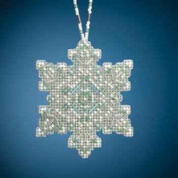"""MH212015 Набор для вышивания """"Aqua Mist Snowflake • Аква снежинка"""" Mill Hill"""