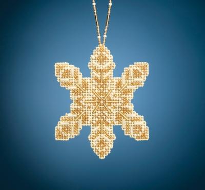 """MH212016 Набор для вышивания """"Pearl Snowflake • Жемчужная сніжинка"""" Mill Hill"""