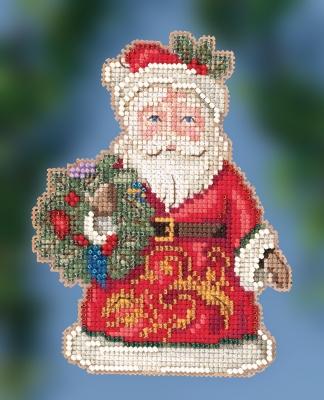 "JS202014 Набор для вышивания ""Winter Wishes Santa • Санта зимних желаний"" Mill Hill"
