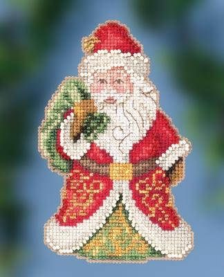 """JS202015 Набор для вышивания """"Gift Bearing Santa • Санта несет подарки"""" Mill Hill"""