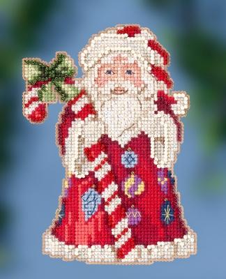 "JS202016 Набор для вышивания ""Candy Cane Santa • Санта с тростью"" Mill Hill"