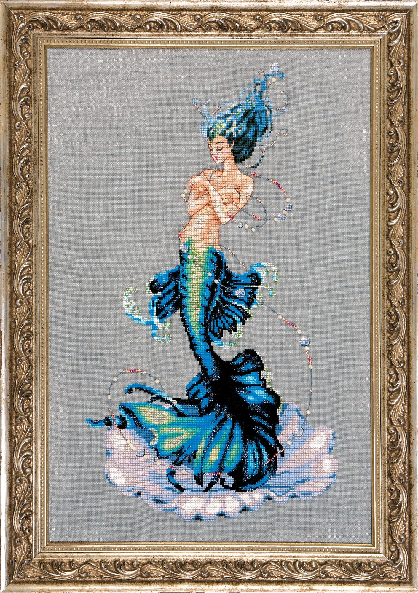 """Схема """"Aphrodite Mermaid • Русалка Афродита"""" Mirabilia Designs MD144"""