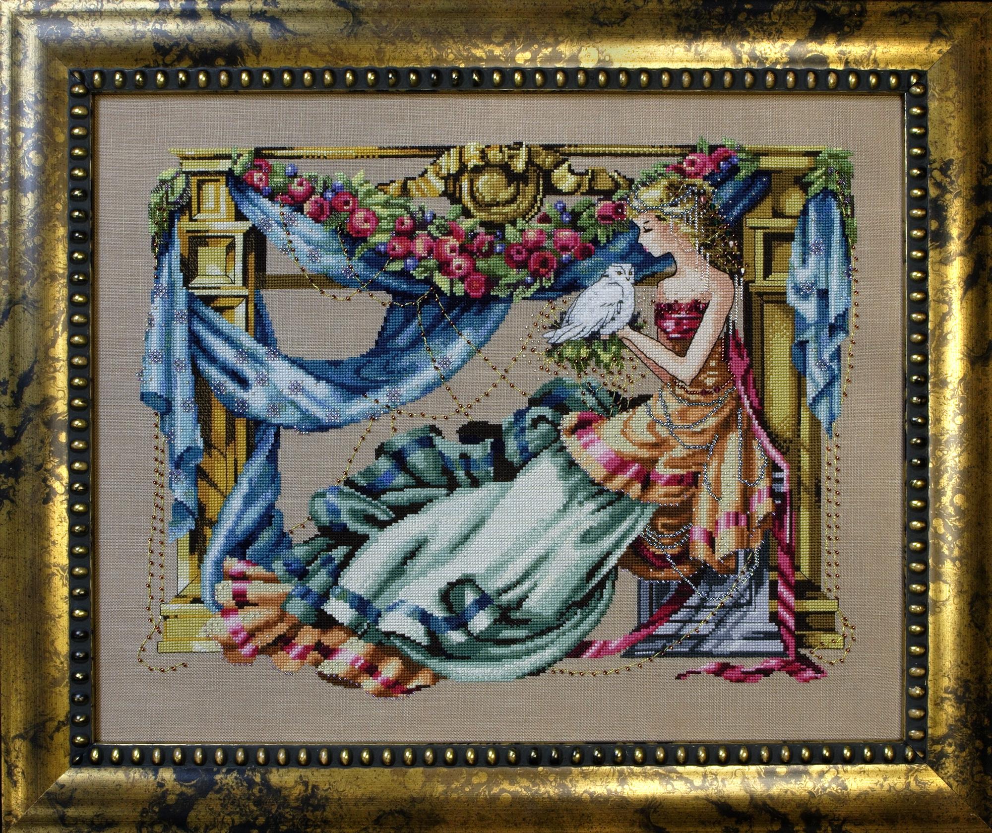 """Схема """"Athena – Goddess Of Wisdom • Афина - Богиня Мудрости"""" Mirabilia Designs MD97"""