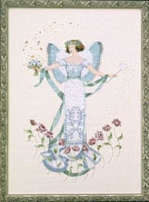 "Схема ""April's Blue Diamond • Апрельский голубой диамант"" Mirabilia Designs MD47"