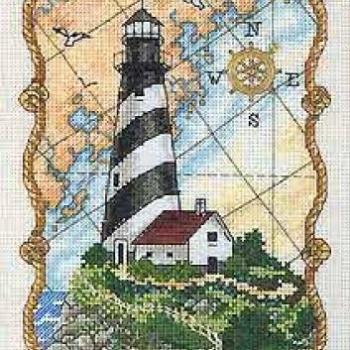 """06779 Набор для вышивания крестом """"Свет для моряков • Mariner's Light"""" DIMENSIONS"""