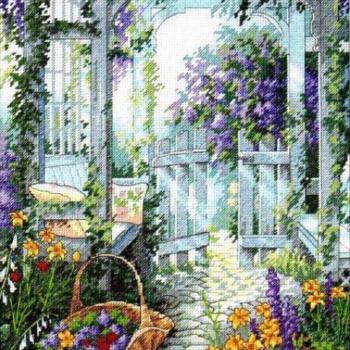 """13692 Набор для вышивания крестом """"Садовая калитка • Garden Gate"""" DIMENSIONS"""
